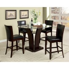 Uptown 5 Piece Counter Height Dining Set