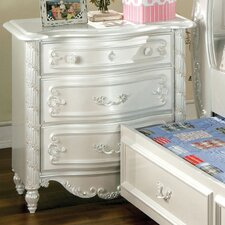 Victoria 3 Drawer Nightstand