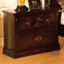 Floral 2 Drawer Nightstand