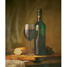 "Wine and Bread Oil Painting on Canvas Art - 24"" x 20"""
