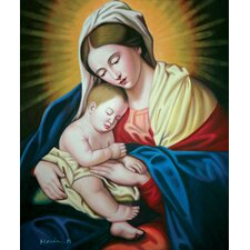 "<strong>Hokku Designs</strong> Our Mary Oil Painting on Canvas Art - 24"" x 20"""