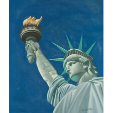 "<strong>Hokku Designs</strong> Statue of Liberty Oil Painting on Canvas Art - 24"" x 20"""