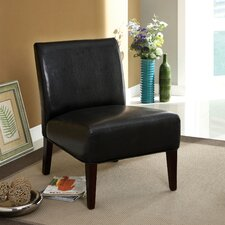 Dean Leatherette Slipper Chair