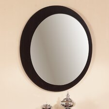 "27"" H x 27"" W Grove Moon Shape Framed Mirror"