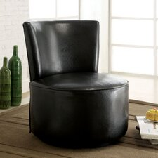 Tory Leatherette Slipper Chair