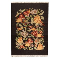 <strong>Hokku Designs</strong> Rosy3 Brown Rug