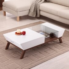 Braxton Coffee Table in White & Brown