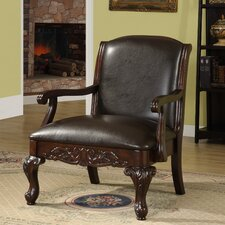 Galen Leatherette Arm Chair