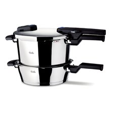Vitaquick Quattro-Set 8.0L Pressure Cooker and 4.0L p/s with Lid