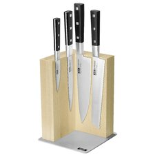 Profession Magnetic 5 Piece Knife Block Set