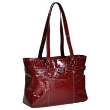 Monterosso Serra Ladies' Leather Laptop Tote