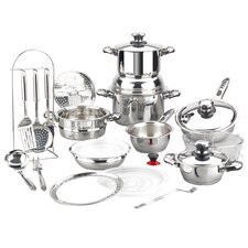 Vitaltherm Stainless Steel 24-Piece Cookware Set