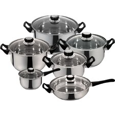 Monterrey Stainless Steel 12-Piece Cookware Set