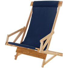 Sling Wood Recliner Beach Chair