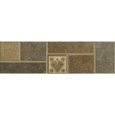 "Brushstone 12"" x 3-1/4"" Accent Border Tile Accent in Multi-color"