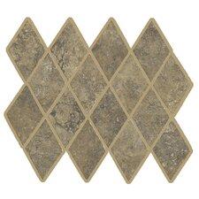 Lunar Rhomboid Mosaic Tile Accent in Walnut