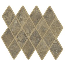 "Lunar Rhomboid 12"" x 9.75"" Mosaic Tile Accent in Walnut"