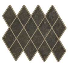 Lunar Rhomboid Mosaic Tile Accent in Graphite