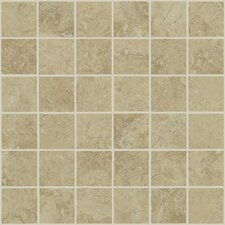 "<strong>Shaw Floors</strong> Piazza 13"" x 13"" Mosaic Tile Accent in Noce"