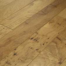 "Brushed Suede 4-1/2"" Engineered Hickory Flooring in Parchment"