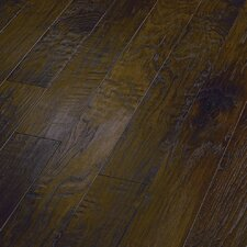 "<strong>Shaw Floors</strong> World Tour 5"" Engineered Handscraped Hickory Flooring in Umber"