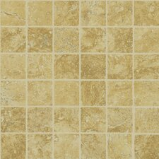 "Piazza 13"" x 13"" Mosaic Tile Accent in Gold"