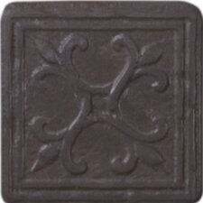 "Heritage Sagebrush Insert 2"" x 2"" Tile Accent in Rust"