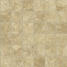 "Piazza 13"" x 13"" Mosaic Tile Accent in Cream"