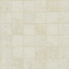 Piazza Porcelain Unpolished Mosaic in Ivory