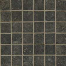 "Lunar 12"" x 12"" Mosaic Tile Accent in Graphite"