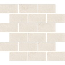 "Padova 10"" x 12"" Subway Mosaic Accent Tile in Blanco"