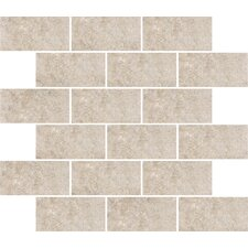 "<strong>Shaw Floors</strong> Padova 10"" x 12"" Subway Mosaic Accent Tile in Gray"