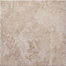 "Capri 18"" x 18"" Floor Tile in Limestone"
