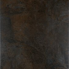 "Domus 12"" x 12"" Floor Tile in Graphite"