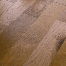 "Panorama 6-3/8"" Engineered Handscraped Hickory Flooring in First Light"