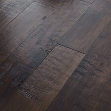 "Acadian Heights 6-3/8"" Engineered Handscraped Maple Flooring in Bar Harbor Brown"