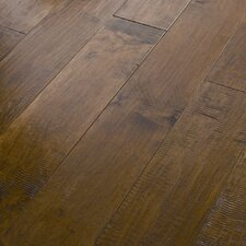 "<strong>Shaw Floors</strong> Acadian Heights 6-3/8"" Engineered Handscraped Maple Flooring in Sand Point"