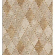 Soho Rhomboid Tile Accent in Gascogne Beige / Walnut