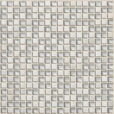 Mixed Up Mosaic Stone Accent Tile in Snow Peak