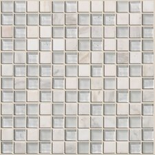 "<strong>Shaw Floors</strong> Mixed Up 12"" x 12"" Mosaic Stone Accent Tile in Snow Peak"