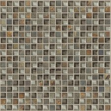 "<strong>Shaw Floors</strong> Mixed Up 12"" x 12"" Mosaic Slate Accent Tile in Pikes Peak"