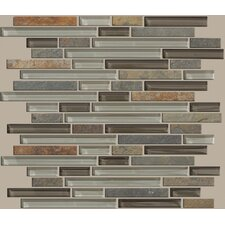 Mixed Up Random Sized Linear Mosaic Slate Accent Tile in Pikes Peak