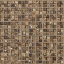 "<strong>Shaw Floors</strong> Mixed Up 12"" x 12"" Mosaic Marble Accent Tile in Dakota"