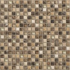 "<strong>Shaw Floors</strong> Mixed Up 12"" x 12"" Mosaic Stone Accent Tile in River Bed"