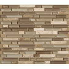 Mixed Up Random Sized Linear Mosaic Stone Accent Tile in Canyon
