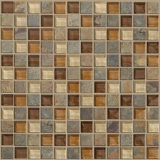 "<strong>Shaw Floors</strong> Mixed Up 12"" x 12"" Mosaic Slate Accent Tile in Crested Butter"