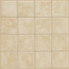 Colonnade Ceramic Floor Tile in White