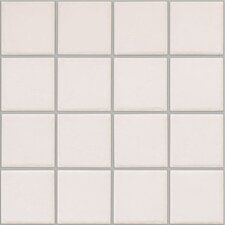 "Colonnade 12"" x 12"" Ceramic Mosaic Floor Tile in Plain White"
