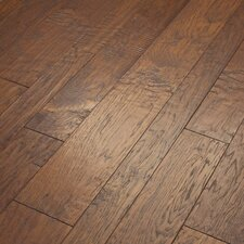 Hudson Bay Mixed Width Engineered Handscraped Hickory Flooring in Copperidge