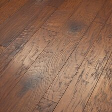 Hudson Bay Mixed Width Engineered Handscraped Hickory Flooring in Schoolhouse
